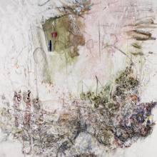 abstract mark making painting