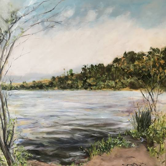 oil painting of the Watsonville Wetlands